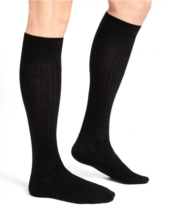 Hoge sokken wol binnenkant katoen