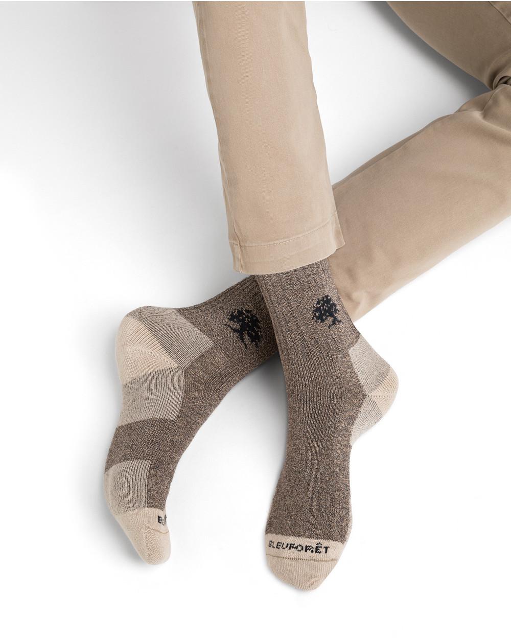 Chaussettes courtes randonnée à côtes