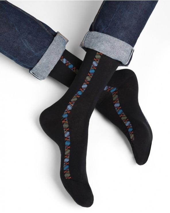 Chaussettes coton motif baguette milleraies