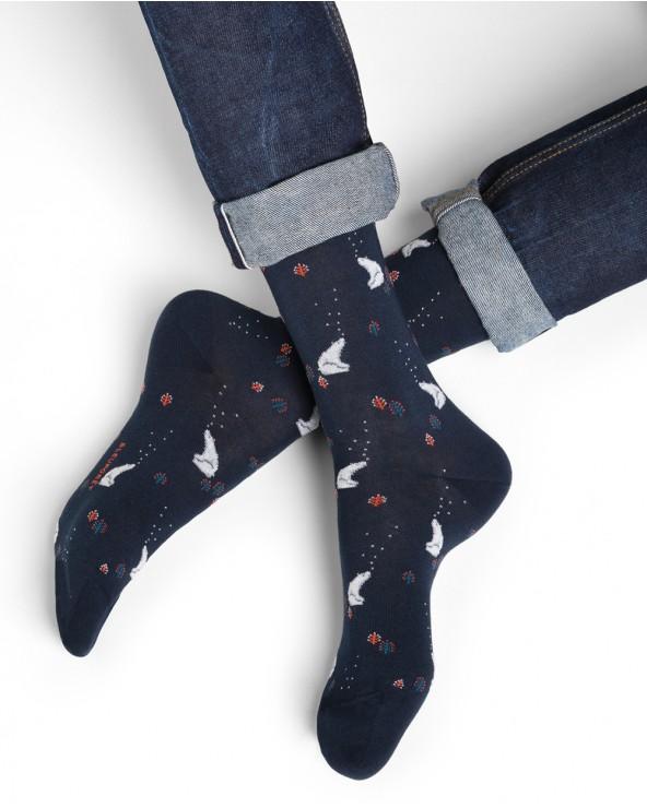 Chaussettes coton motifs ours polaires