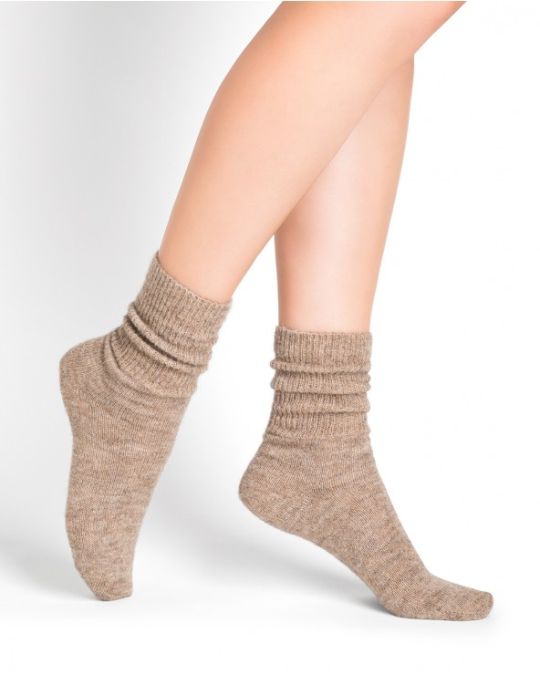 Chaussettes alpaga unies Cocoon