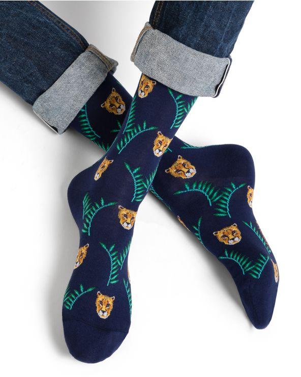 Chaussettes coton motif panthères
