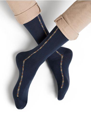 Chaussettes coton d'Égypte motif baguette