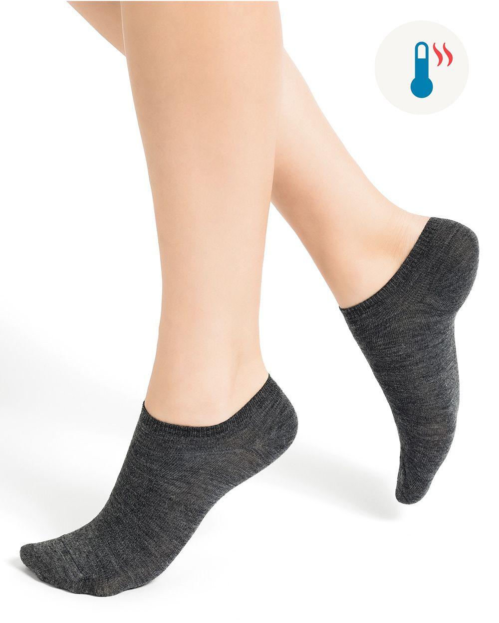 Socquettes laine fine unies