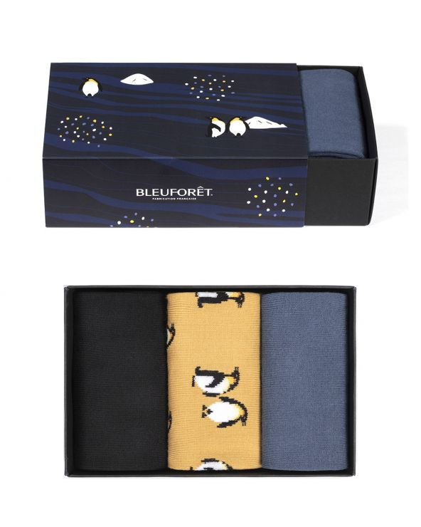 Coffret cadeau coton fantaisie pingouins