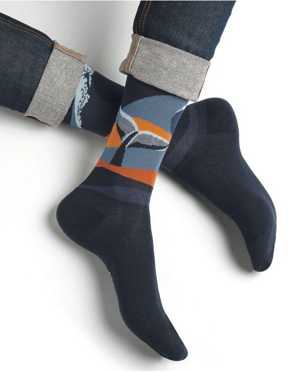 Chaussettes Coton Motif Baleine