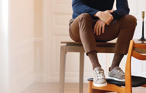 chaussettes homme fil d'Ecosse
